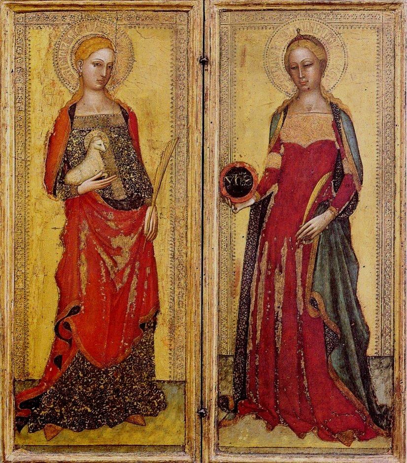 Andrea_di_Bonaiuto._St._Agnes_and_St._Domitilla._1365._Galleria_dell'Accademia,_Florence.
