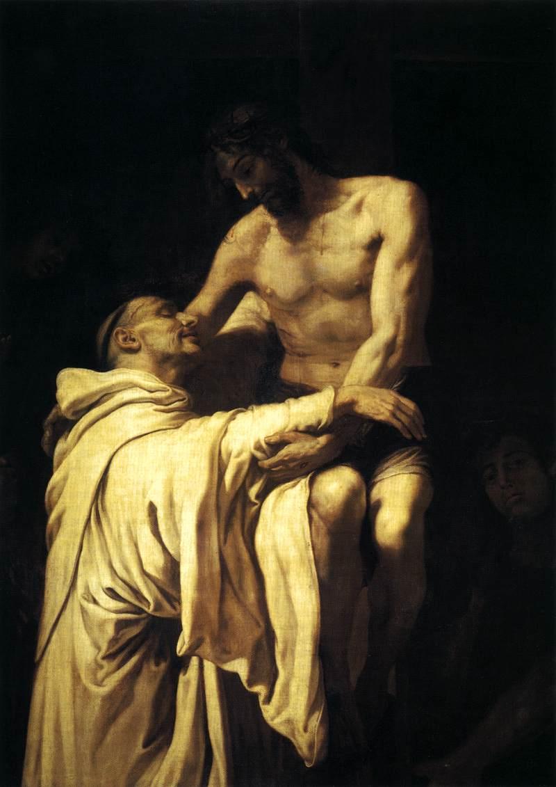 Francisco_Ribalta_-_Christ_Embracing_St_Bernard_-_WGA19350