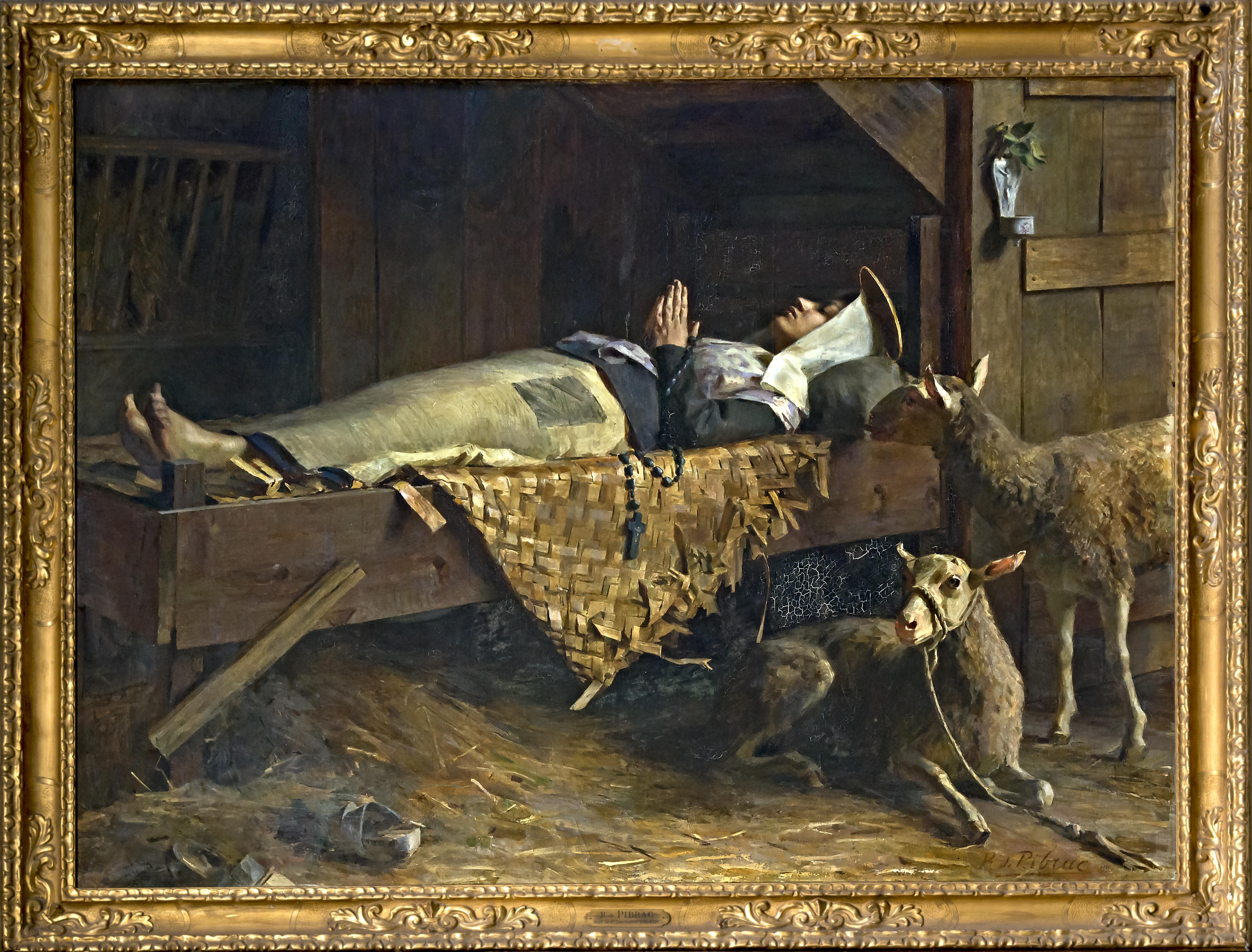 La Mort de Sainte-Germaine ( Comte Raoul. de Pibrac ) 1910 (Salon de Paris)