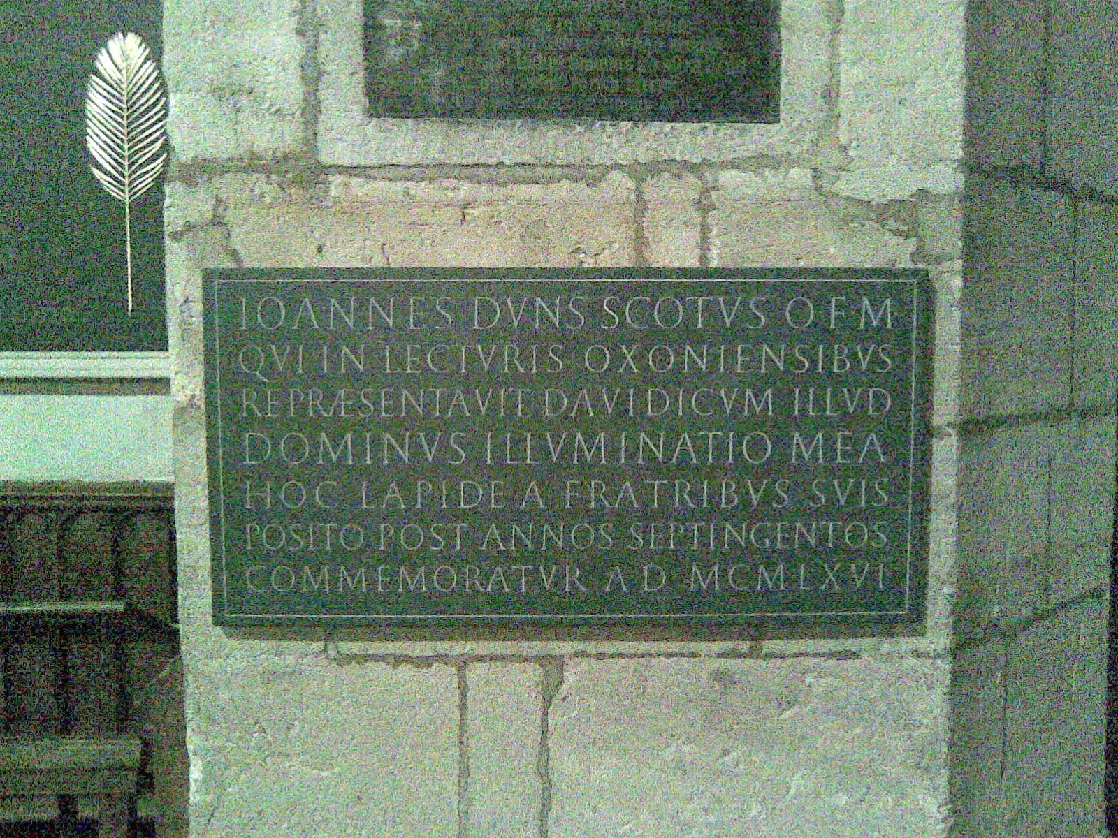 Duns_Scotus_plaque_University_Church_Oxford