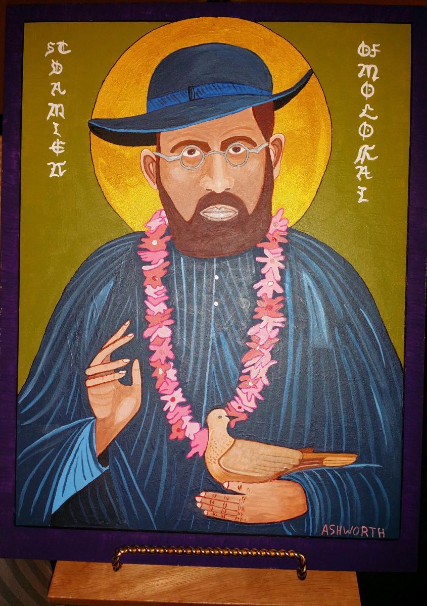 St Damien of Molokai photoshop