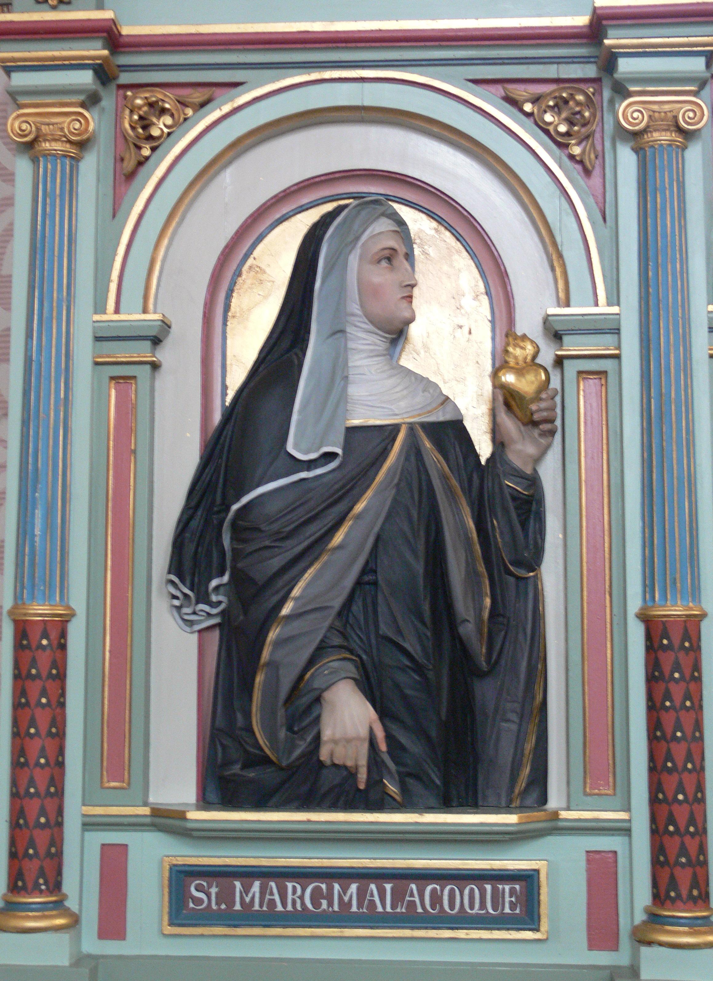 Merazhofen_Pfarrkirche_Chorgestühl_links_Margaretha_Maria_Alacoque