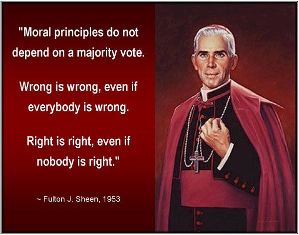 Bishop Sheen Quotes: Sodomy Vs Divorce: Lesser Of Two Evils?