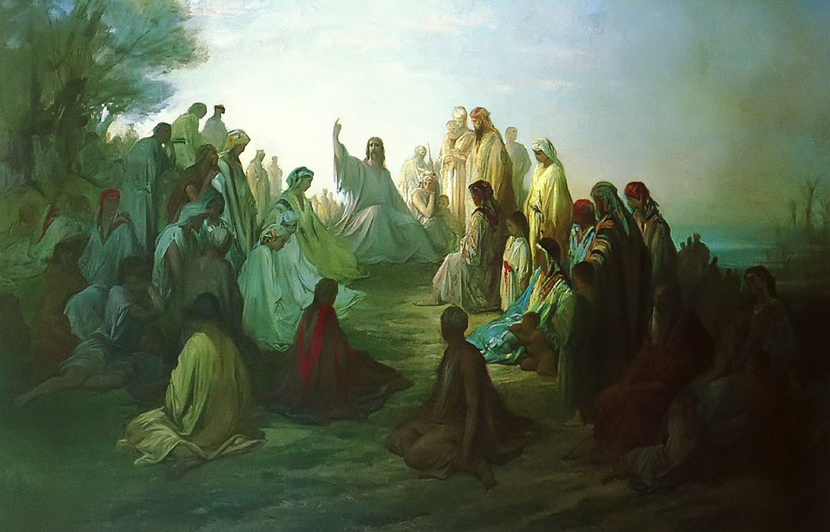 Jesus Preaching the Sermon on the Mount Gustave Dore