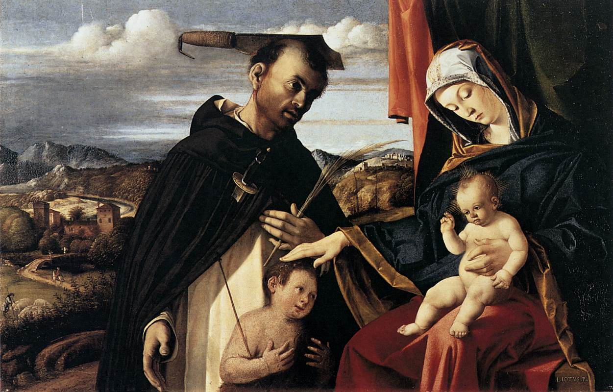 lorenzo_lotto_-_madonna_and_child_with_st_peter_martyr_-_wga13648